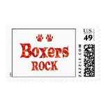 Boxers Rock Postage Stamps