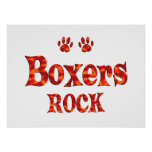 Boxers Rock Poster