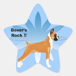 Boxer's Rock!! Star Sticker