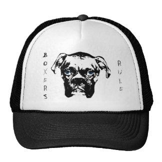 Boxers Rule B&W Trucker Hat