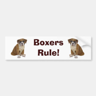 Boxers Rule Bumper Sticker