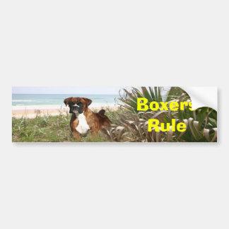 Boxers Rule Bumper Sticker Car Bumper Sticker