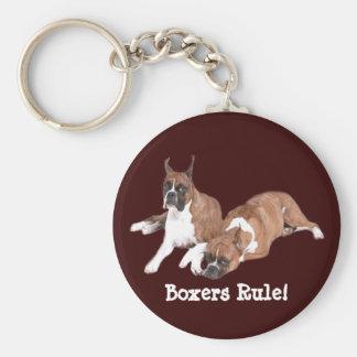 Boxers Rule Keychain
