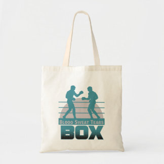 boxers sparring tote bag
