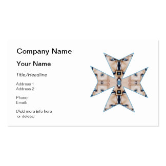Boxes and Blue Eyes Kaleidoscope Cross Business Card Templates