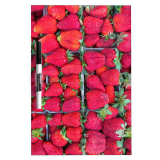 Boxes filled with red strawberries Dry-Erase board