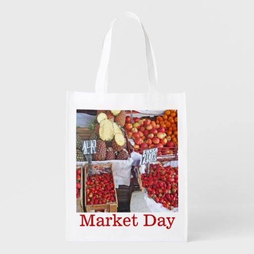 Boxes of Fruit - Market Day Grocery Bag