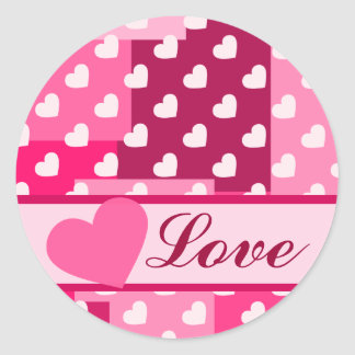 Boxes of Love Classic Round Sticker