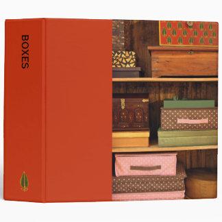 Boxes orange Binder