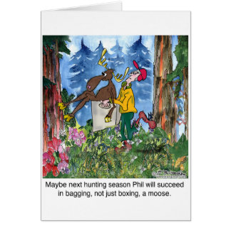 Boxing A Moose Card