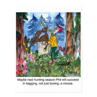 Boxing A Moose Postcard