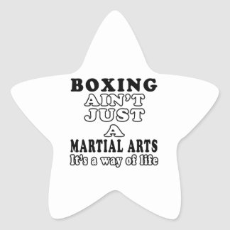 Boxing Ain't Just A Game It's A Way Of Life Star Sticker