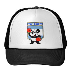 Trucker Hat with Argentina Boxing Panda design
