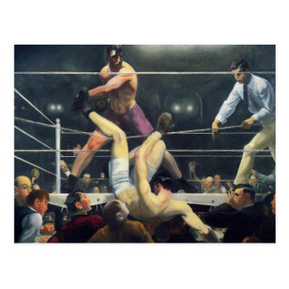 Boxing art postcard