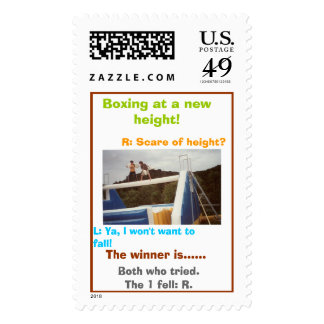 Boxing at a new height!, L: Ya, I won't wa... Stamp