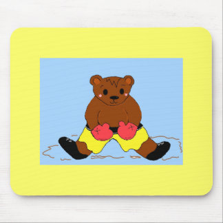 Boxing Bear Mouse Pad