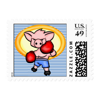 Boxing Boar Postage