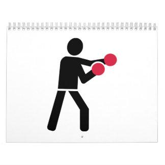 Boxing Boxer Calendar