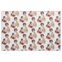 Boxing Boxer dog fabric