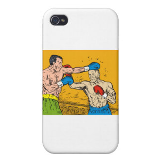 boxing boxer fighter fighting knockout punch iPhone 4 cases