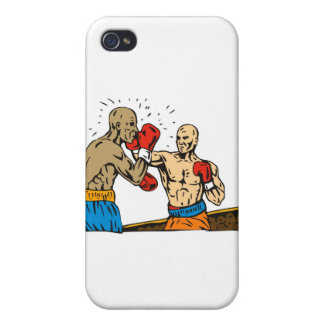 boxing boxer knockout punch iPhone 4/4S covers