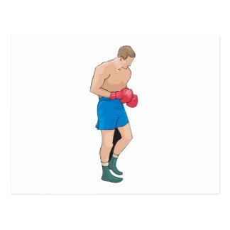 boxing boxer vector graphic postcard
