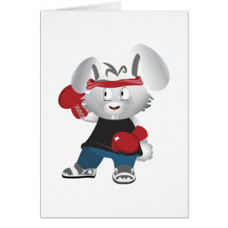 Boxing Bunny Card