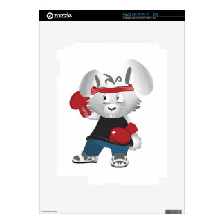 Boxing Bunny Decal For iPad 2