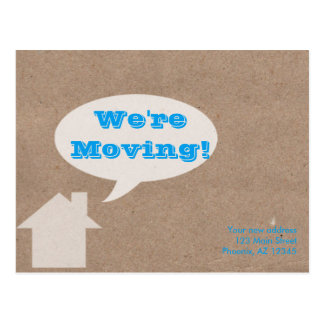 Boxing cardboard moving house postcard