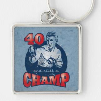 Boxing Champ 40th Birthday Keychain