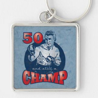 Boxing Champ 50th Birthday Keychain