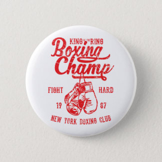 Boxing Champ New York Boxing Club Fight Hard Pinback Button