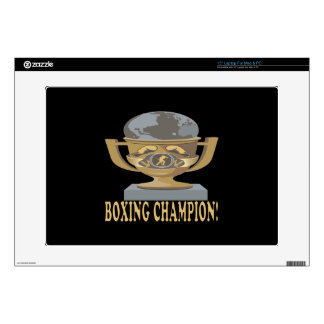 """Boxing Champion Decal For 15"""" Laptop"""