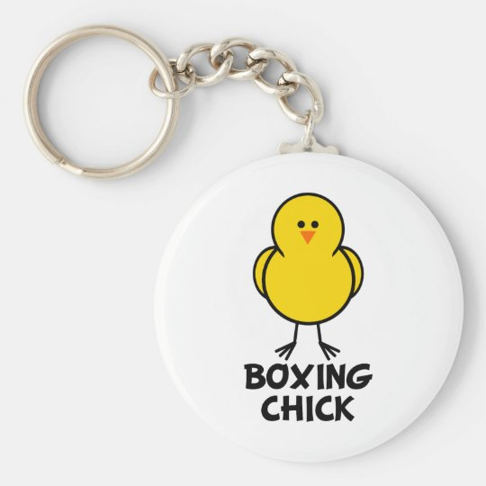 Boxing Chick Keychain