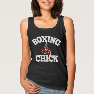 Boxing Chick Tank Top