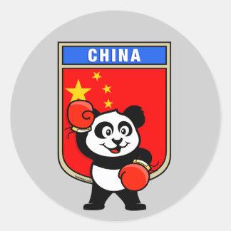 Boxing China Panda Stickers