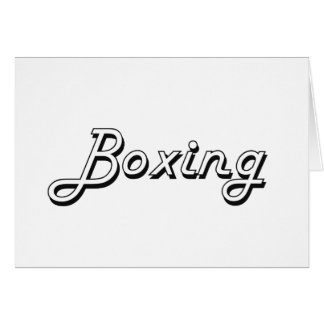 Boxing Classic Retro Design Stationery Note Card