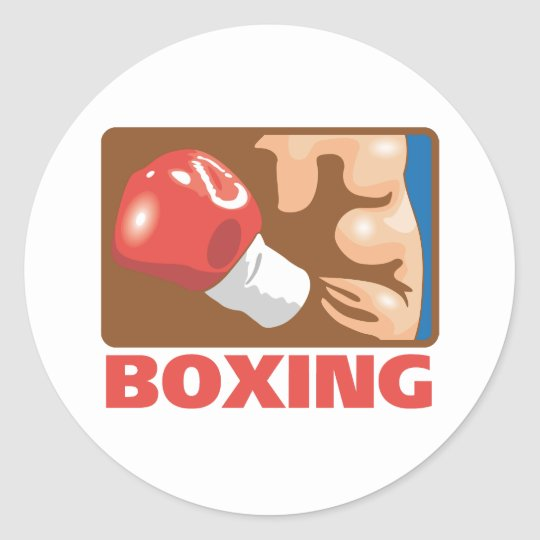 Boxing Classic Round Sticker
