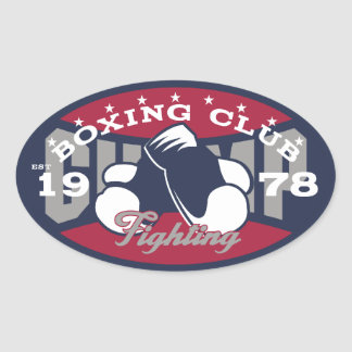 Boxing Club Oval Sticker