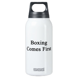 Boxing Comes First 10 Oz Insulated SIGG Thermos Water Bottle