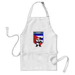 Apron with Cuba Boxing Panda design