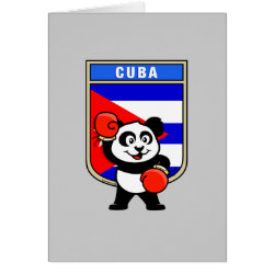 Greeting Card with Cuba Boxing Panda design