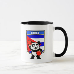 Combo Mug with Cuba Boxing Panda design