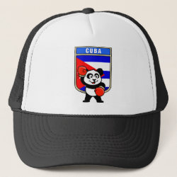 Trucker Hat with Cuba Boxing Panda design