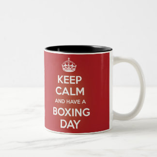BOXING DAY MUG (Right Handed, Two Tone)