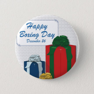 Boxing Day Pinback Button