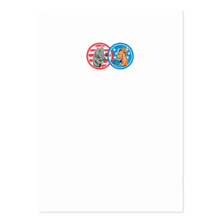 Boxing Democrat Donkey Versus Republican Elephant Large Business Cards (Pack Of 100)