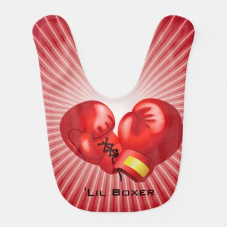 Boxing Design Baby Bib