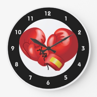 Boxing Design Wall Clock