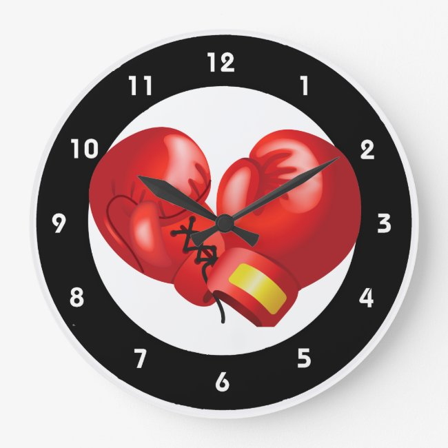 Boxing Design Wall Clock